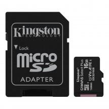 Paměťová karta Kingston Micro SDHC 16GB Class 10 s adaptérem