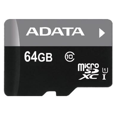 Paměťové karty 64 GB Micro SDXC karta Adata 64GB (AUSDX64GUICL10-RA1)