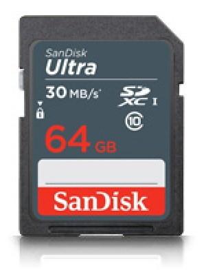 Paměťové karty 64 GB SanDisk SDXC Ultra 64GB UHS-I (SDSDL-064G-G35)