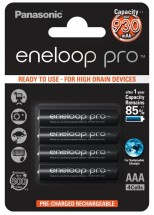 Panasonic Eneloop Pro R03/AAA 930mAh, 4 ks, Blister