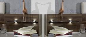 Panel na noční stolek Imola - sestěnou, 2 ks (champagne, nocce)