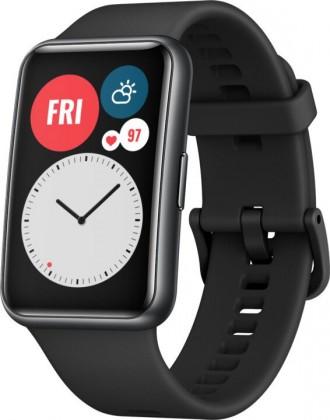 Pánské chytré hodinky Chytré hodinky Huawei Watch Fit, černá