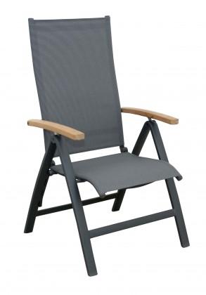 Parro - Polohovací křeslo, hlin. Konstrukce (antracit - dřevo)