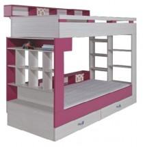 Patrová postel Komi KM 14 (růžová)