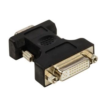 PC kabely Adaptér VGA–DVI,zástrčka VGA –24+5pinová zásuvka DVI-I,černý