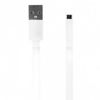 PC kabely Bigben CABLEFLATMICW - Micro USB kabel plochý 2.1A 1m, bílý