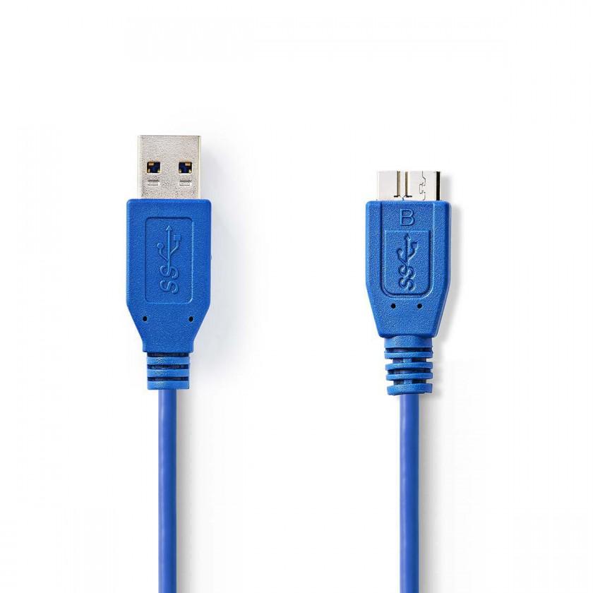 PC kabely Kabel zástrčka USB 3.0 A-zástrčka USB micro B,1,00 m-VLCP61500L10