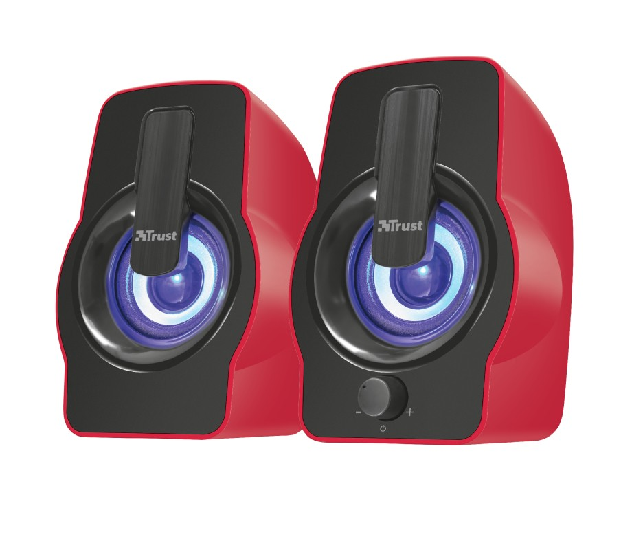 PC reproduktory 2.0 Gemi RGB 2.0 Speaker Set - red