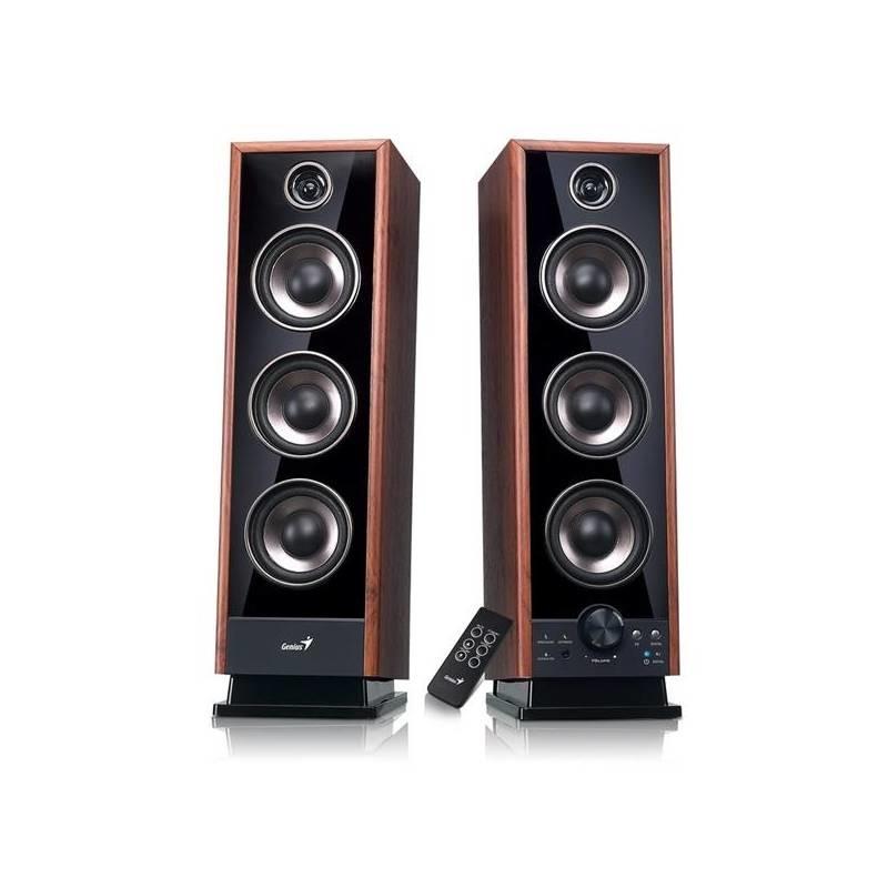 PC reproduktory 2.0 GENIUS repro SP-HF2020 V2, 2.0, 60W, Sound EQ, opt. vst.,Dřevěné