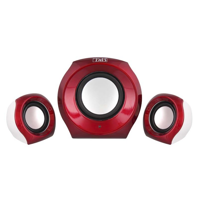PC reproduktory 2.1 T'nB 2.1 Speaker Set JUKE, červený