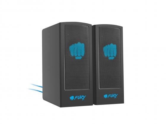 PC reproduktory 5.0 a více Herní reproduktory FURY Skyray 2.0, 5W, černá