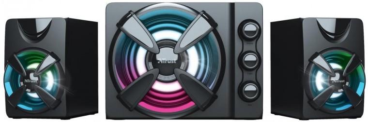 PC reproduktory 5.0 a více Reproduktory Trust ZIVA RGB, 2.1, 22W, herní, černé
