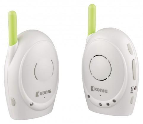 Péče o dítě ZLEVNĚNO KÖNIG Digitální dětská audiochůvička, 2,4 GHz  - KN-BM10 POUŽITÉ