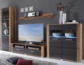 Pen - obývací stěna (jabloň/wenge)