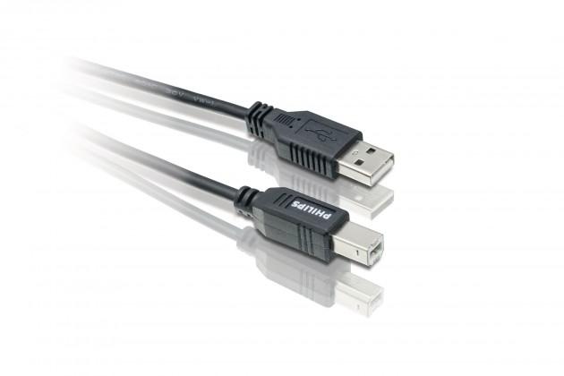 Philips Kabel USB 2.0 SWU2112 konektory A/B, 1,8 m