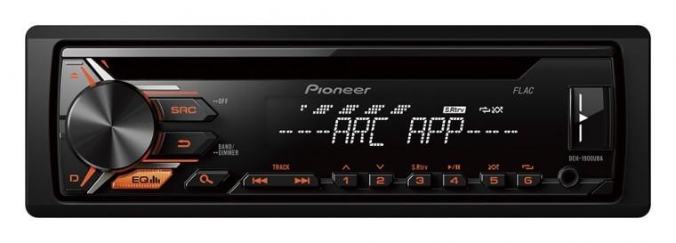 PIONEER autorádio DEH-1900UBA/ Oranžová tlačítka/ Bílý displej
