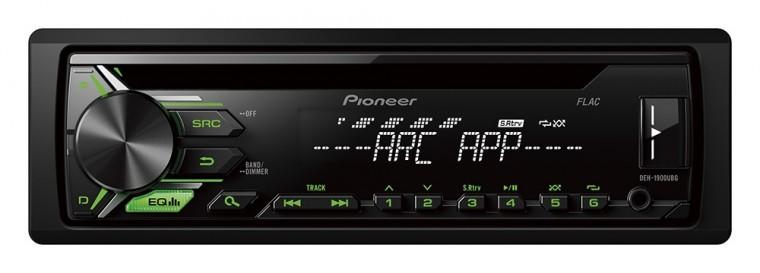 PIONEER autorádio DEH-1900UBG/ Zelená tlačítka/ Bílý displej