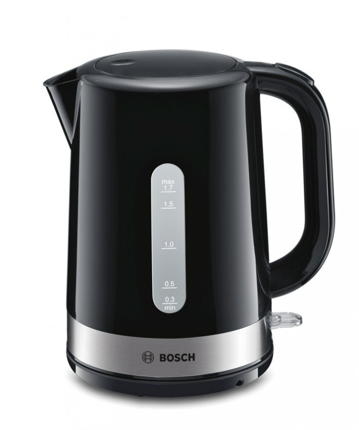 Plastové rychlovarné konvice Rychlovarná konvice Bosch TWK7403, černá, 1,7l