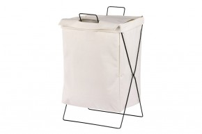 Plátěný koš na prádlo (bílá)