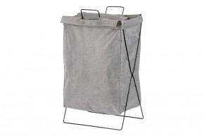 Plátěný koš na prádlo (tmavě šedá)