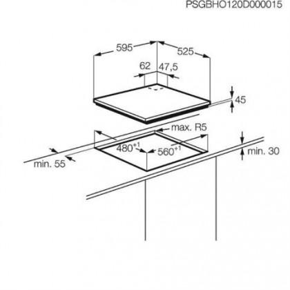 Plynové desky Electrolux EGS 6648NOX