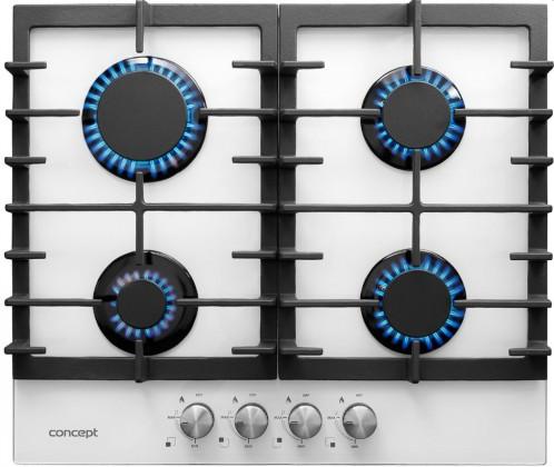 Fotografie Concept PDV7060wh Plynová deska vestavná 60 cm WHITE Concept