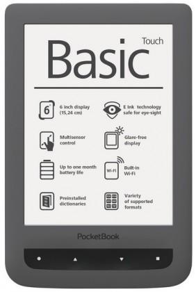 Pocketbook 624 Basic touch, šedá