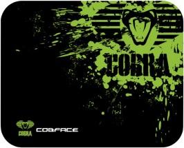 Podložka pod myš Cobra S, herní, černo-zelená, 28x22.5cm