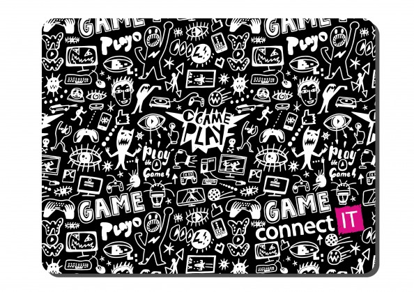 Podložka pod myš CONNECT IT Doodle, látková CMP-1120-SM