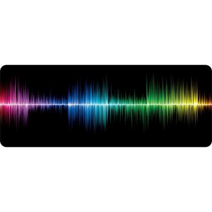 Podložka pod myš Podložka WG pod klávesnici a myš, frekvence, 750x300mm