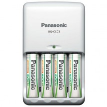 Pokročilá nabíječka baterií Panasonic K-KJ17 + 4xAA, 1900mAh