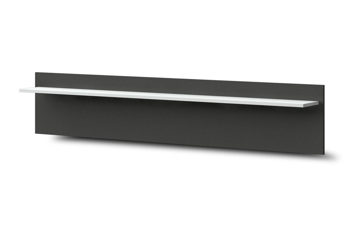 Police Bow Typ 43 (bílá arctic LDTD / grafit vysoký lesk MDF)