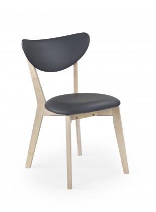 Polo - Jídelní židle (šedá, bělené dřevo)