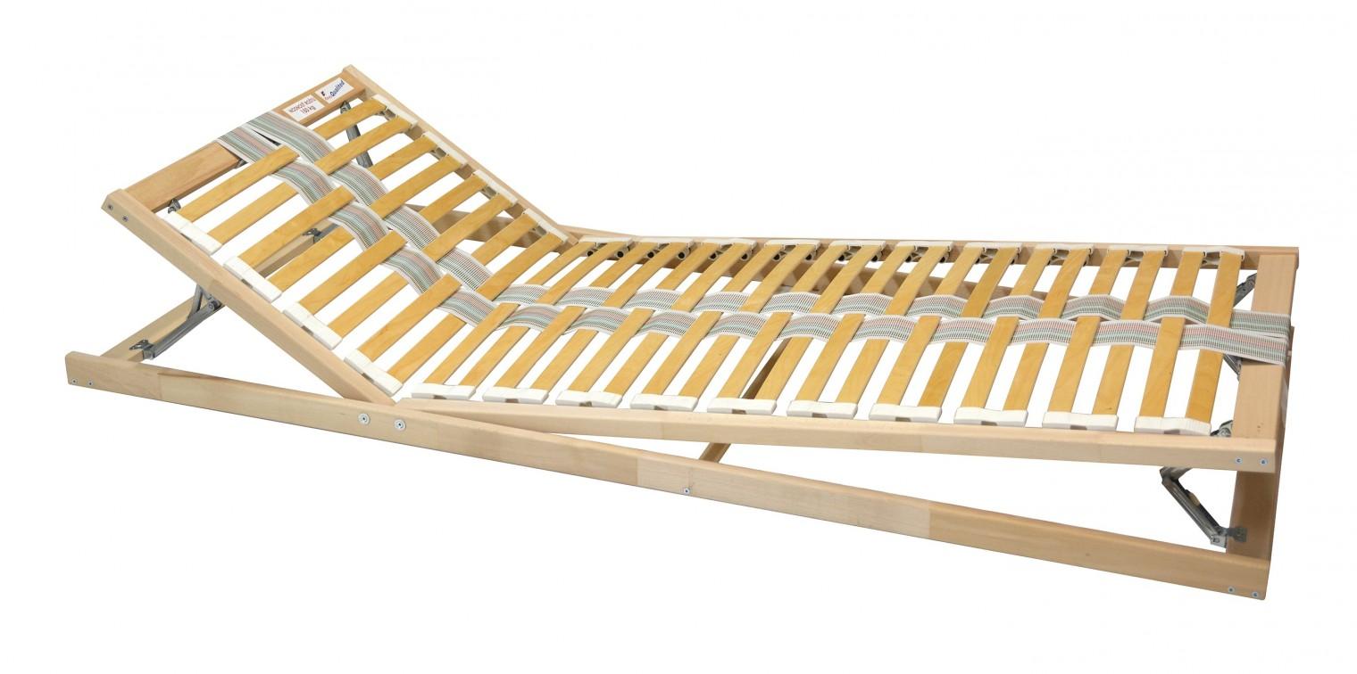 Polohovací Double expert - Rošt, 90x200 cm, polohovací, lamely 35
