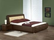 Postel Soho - 160x200, rám postele, ÚP, rošt (hnědo-béžová)