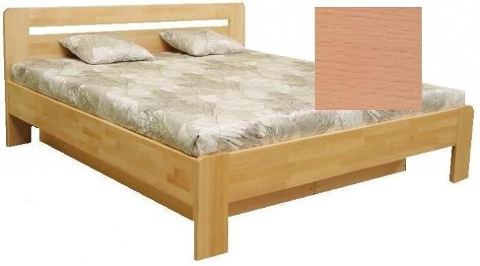 Postel z masivu Dřevěná postel Kars 2, 180x200, vč. výkl.roštu a úp, bez matrace