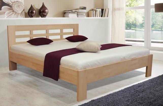 Postele z masivu Dřevěná postel Vegas 2, 180x200, vč. výkl.roštu a úp,bez matrace