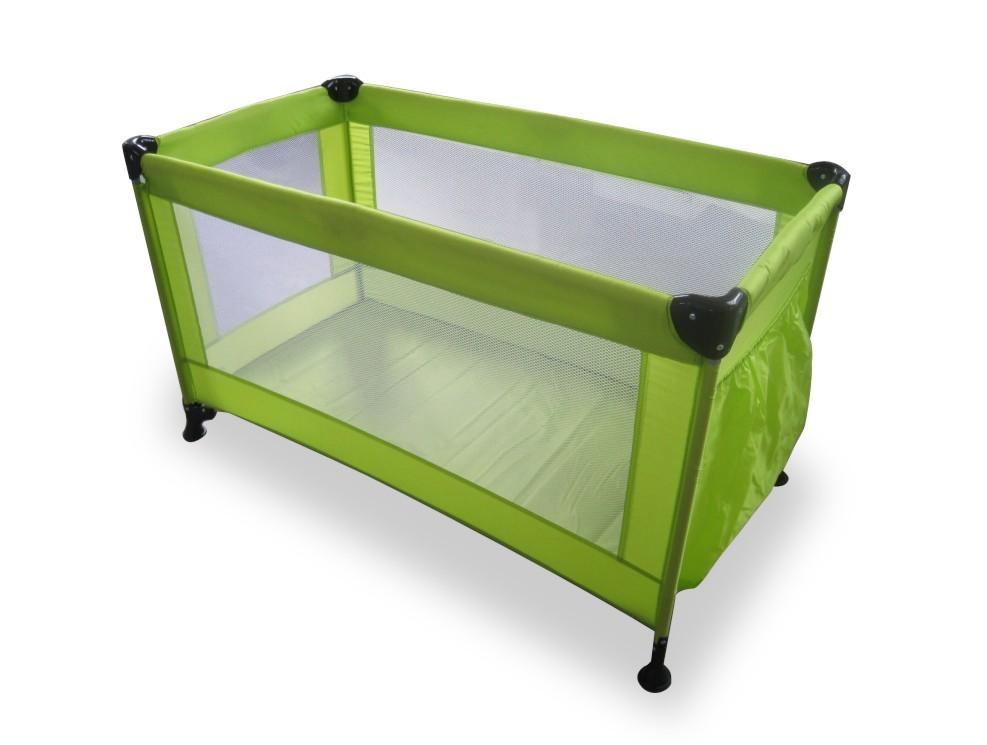 Postýlky a příslušenství Calme - Cestovní postýlka, 120x60x73 cm, skládací (zelená)