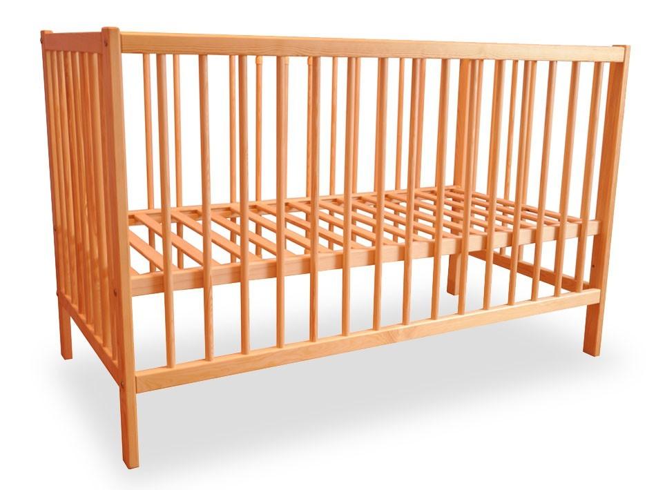 Postýlky a příslušenství Dětská postýlka, dřevěná, 120x60x80 cm (borovice)