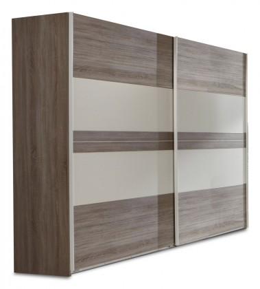 Posuvná Corfu - Šatní skříň, 2x dveře (dub montana, alpská bílá)