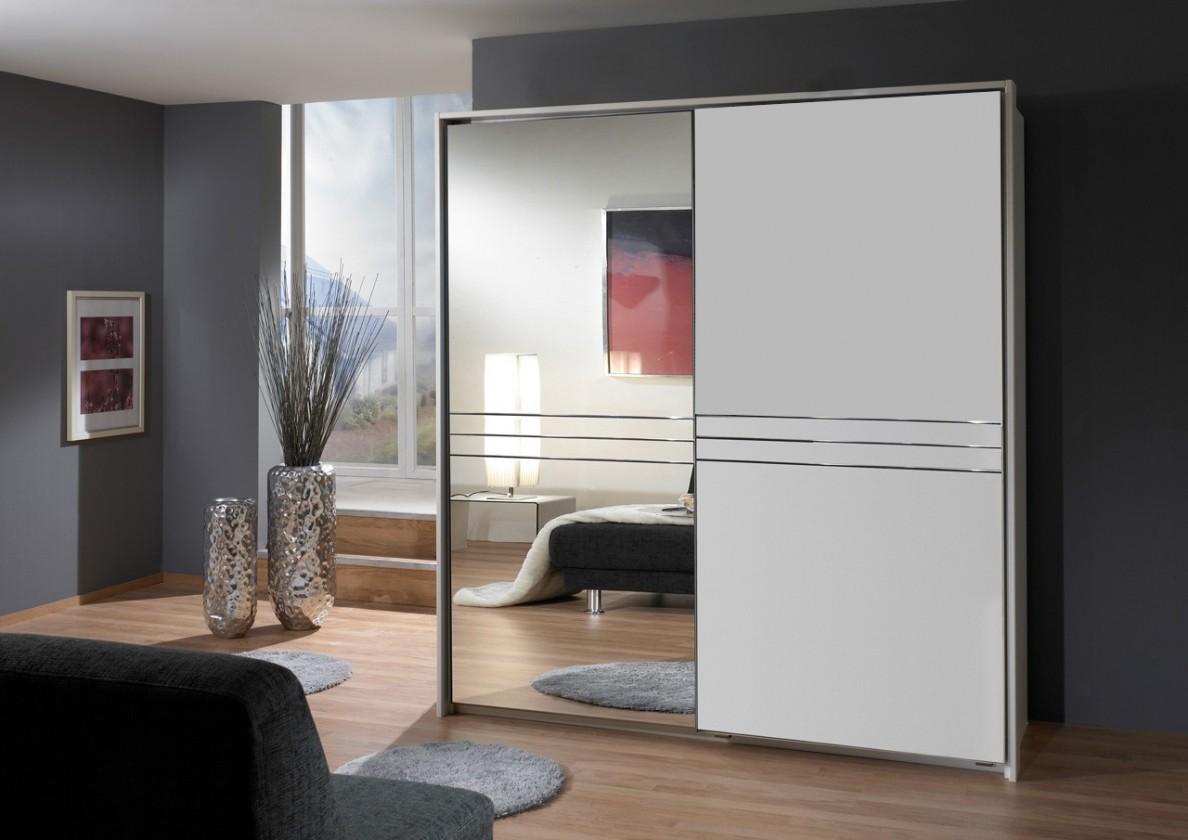 Posuvná Medina - Šatní skříň, 2x posuvné dveře (alpská bílá)