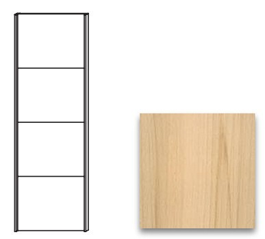 Posuvná Quadra-Dveře posuvné k 48K1 (Buk natur)