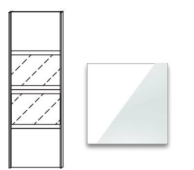 Posuvná Quadra - dveře posuvné k šatní skříni 48K1