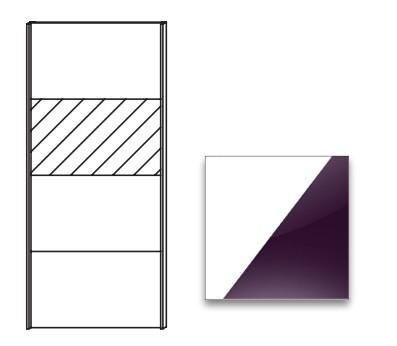 Posuvná Quadra - dveře posuvné k šatní skříni 48K2, 48K8