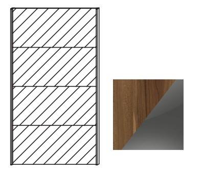 Posuvná Quadra - dveře posuvné k šatní skříni 48K3