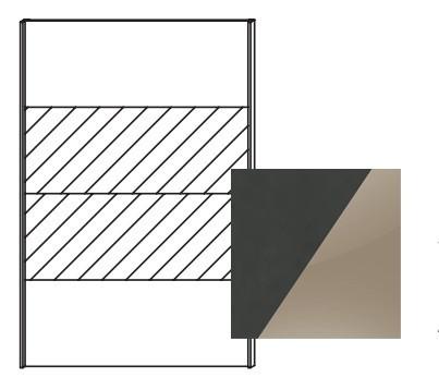 Posuvná Quadra - dveře posuvné k šatní skříni 48K8