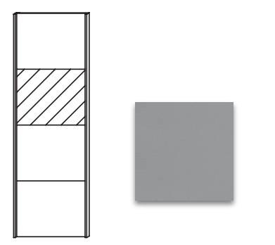 Posuvná Quadra - dveře posuvné se zrcadlem k šatní skříni 48K1