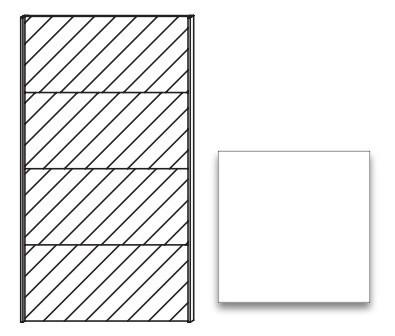 Posuvná Quadra - dveře posuvné se zrcadlem k šatní skříni 48K3
