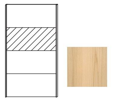 Posuvná Quadra - dveře posuvné se zrcadlem k šatní skříni 48K7
