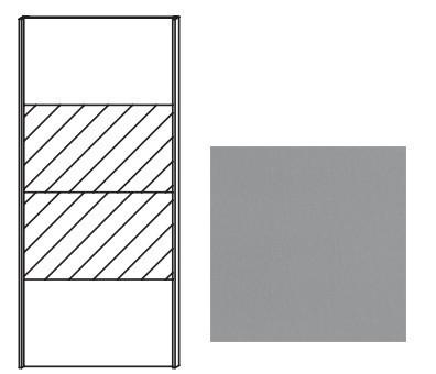 Posuvná Quadra - dveře posuvné se zrcadlem k šatní skříni 48K8